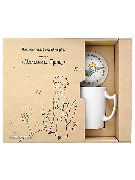 """Подарочный набор: бокал с крышечкой, форма """"Снежное утро"""", рисунок """"Маленький принц"""", Императорский фарфоровый завод Тульские самовары"""