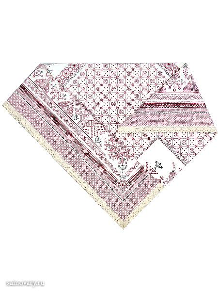 Скатерть Артель, розовая с кружевами, 150х150Размер скатерти 150*150 см. &#13;<br>Хлопок 100%. 1 Сорт.<br>