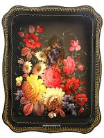 Цветы на черном фоне прямоугольный