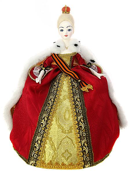 Кукла на чайник Императрица, арт. 19Кукла тряпичная декоративная на заварочный чайник.<br>