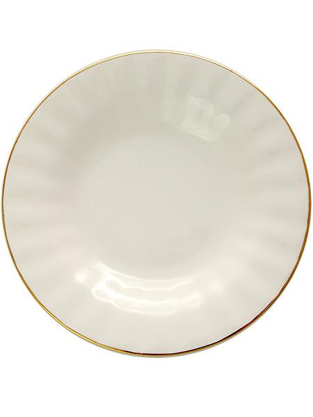 Тарелка глубокая 215 мм, форма Нега, рисунок Золотая лента, Императорский фарфоровый заводФарфоровая тарелка.<br>Диаметр - 190 мм.<br>