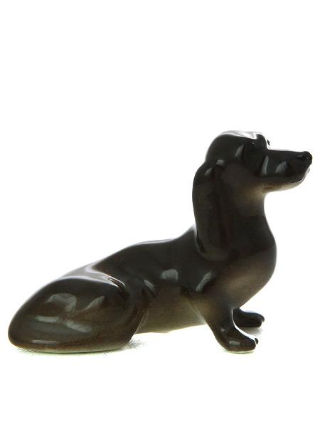 Скульптура Такса, Императорский фарфоровый заводФарфоровая сувенирная фигурка животного.<br>