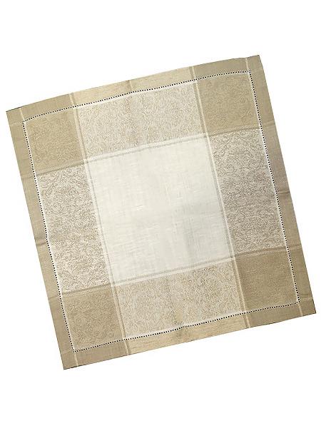 Салфетка бежево-белая с мережкой, 45х45Размер салфетки - 45*45 см.&#13;<br>Хлопколен.<br>