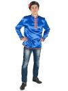 Косоворотка мужская атласная синяя, 3XL-5XLТрадиционная русская рубаха с косым воротом.&#13;<br>Размер от 3XL-5XL.<br>