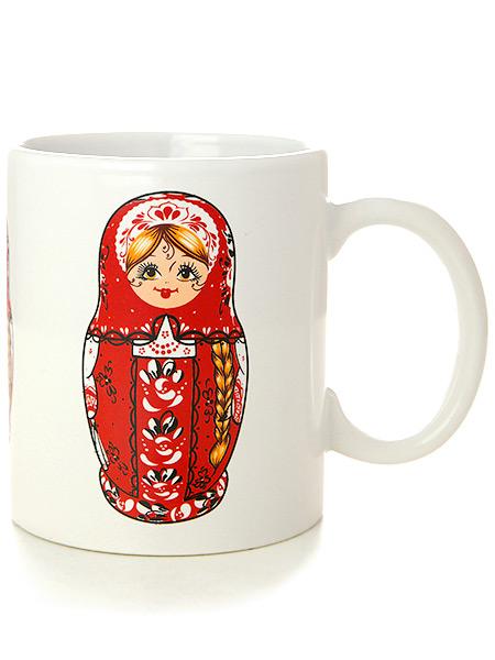 Подарочная кружка для чая МатрешкаСтильная дизайнерская кружка от магазина Тульских самоваров.&#13;<br>Материал - керамика.&#13;<br>Объем - 320 мл.<br>