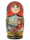 Набор матрешек Курочка Ряба, серия Сказки, арт. 570Набор из 5 штук.&#13;<br>Высота - 16 см.<br>