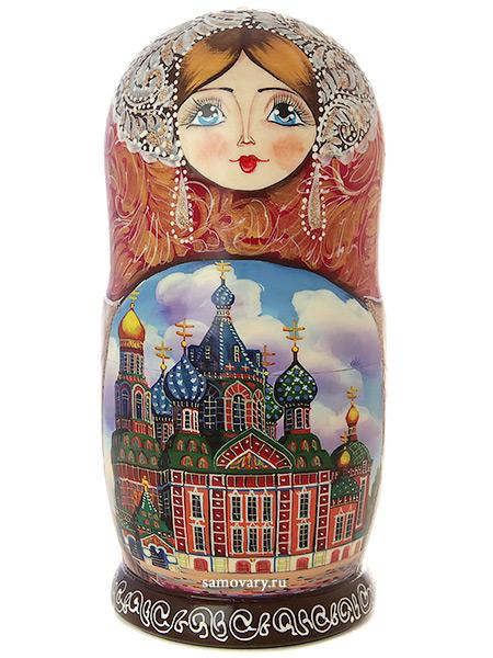 Матрешка 5 куколок Санкт-Петербург, арт. 501Набор из 5 штук.&#13;<br>Высота - 16 см.<br>