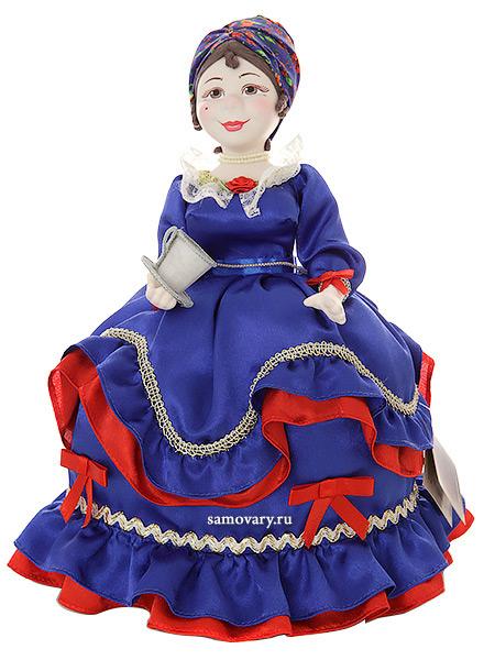 Кукла на чайник Инесса, арт. 51Кукла тряпичная декоративная на заварочный чайник.<br>