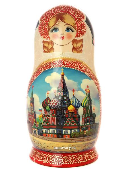 """Набор матрешек """"Москва златоглавая"""", арт. 1501э Тульские самовары"""