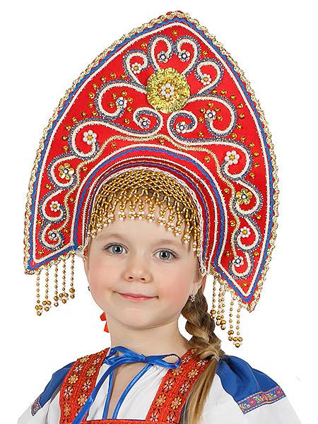 Кокошник русский Купола красныйСимвол традиционного русского костюма.<br>