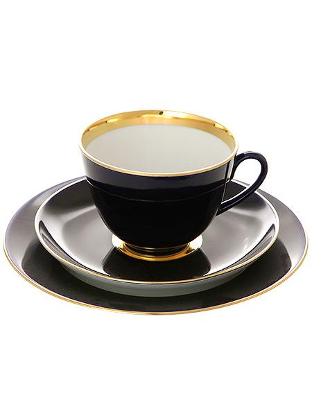 3-x предметный чайный комплект форма Весенняя рисунок Ночь, Императорский фарфоровый заводФарфоровая чашка и два блюдца.&#13;<br>Объем - 250 мл.<br>