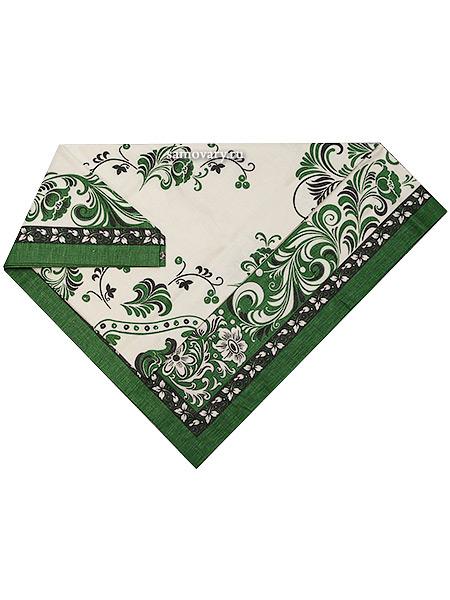 Скатерть Петух, зеленая без кружева, 150х180Размер скатерти 150*180 см. <br>Хлопок 100%. 1 Сорт.<br>