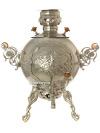 """Самовар на дровах 5 литров никелированный \""""шар-паук\"""" \""""Метелица\"""", арт. 310212"""