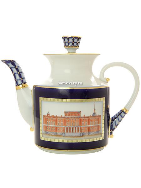 Чайник заварочный форма Банкетная, рисунок Классика Петербурга, Императорский фарфоровый заводФарфоровый чайник.<br>Объем - 860 мл.<br>