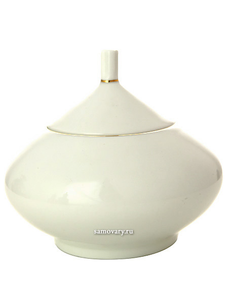 Сахарница форма Купольная, рисунок Золотая лента, Императорский фарфоровый заводФарфоровая сахарница.<br>Объем - 360 мл.<br>