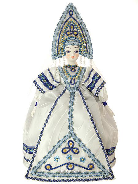 Кукла на чайник Снежная королева, арт. 25Кукла тряпичная декоративная на заварочный чайник.<br>