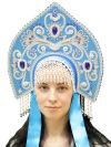 Кокошник Купола голубойСимвол традиционного русского костюма.<br>