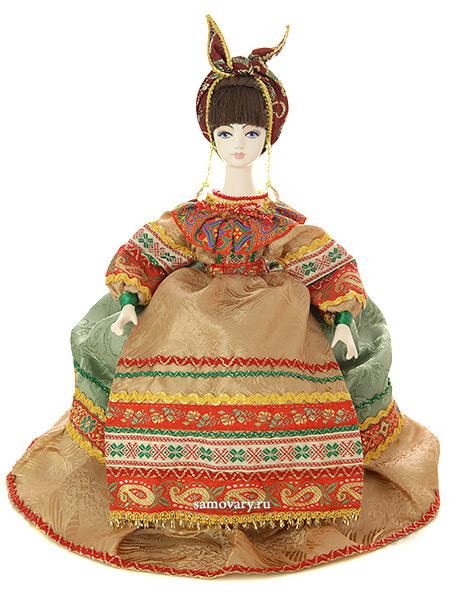 Кукла на чайник Солоха, арт. 11Кукла тряпичная декоративная на заварочный чайник.<br>