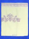 Льняная скатерть Вологодское кружево, прямоугольная цвет топленого молока с фиолетовой вышивкой и кружевом (Вологодское кружево), арт. 1С-968, 230х150Скатерть с Вологодским кружевом.&#13;<br>Размер - 230х150 см.<br>