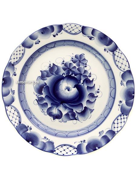 Тарелка десертная керамическая с росписью Гжель ДубокТарелка с ручной росписью.<br>Диаметр - 20 см.<br>Высота - 2,8 см.<br>