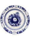 Тарелка десертная керамическая с росписью Гжель ДубокТарелка с ручной росписью.&#13;<br>Диаметр - 20 см.&#13;<br>Высота - 2,8 см.<br>