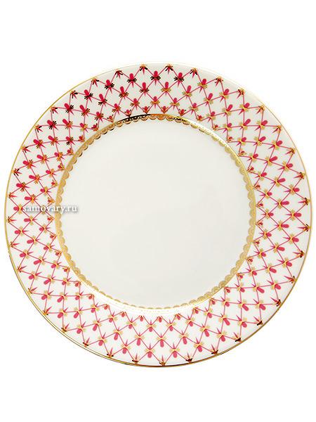 Тарелка глубокая 220 мм, форма Европейская, рисунок Сетка-блюз, Императорский фарфоровый заводФарфоровая тарелка.<br>Диаметр - 220 мм.<br>