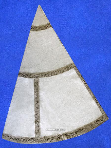 Льняная круглая скатерть темно-серая с темным кружевом и кружевной вышивкой (Вологодское кружево), арт. 6с-643, d-175Скатерть с Вологодским кружевом.&#13;<br>Диаметр - 175 см.<br>