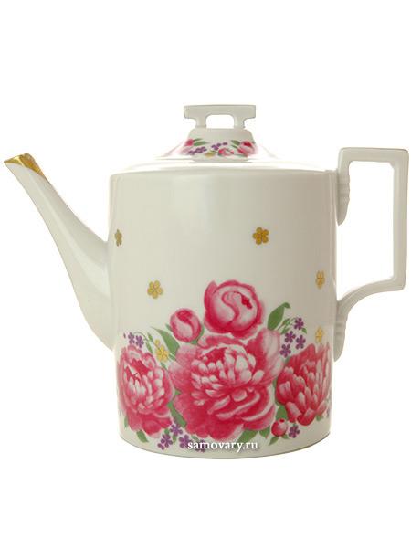 Чайник заварочный форма Гербовая, рисунок Первое свидание, Императорский фарфоровый заводФарфоровый чайник.&#13;<br>Объем - 1000 мл.<br>
