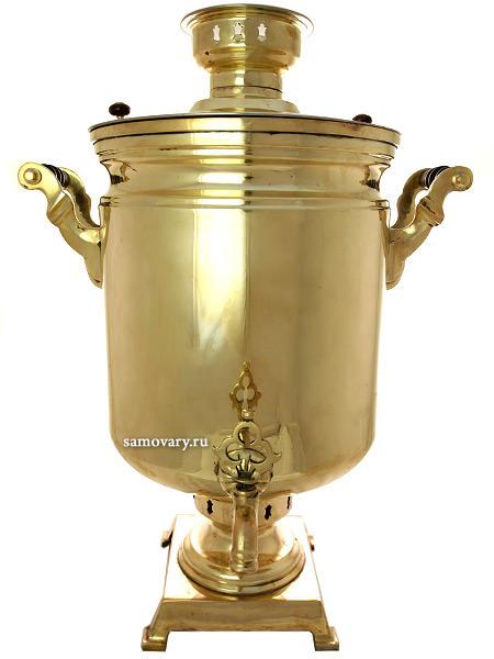 """Угольный самовар 40 литров желтый """"цилиндр"""" произведен в 50-х годах XX века, арт. 445457 Тульские самовары"""