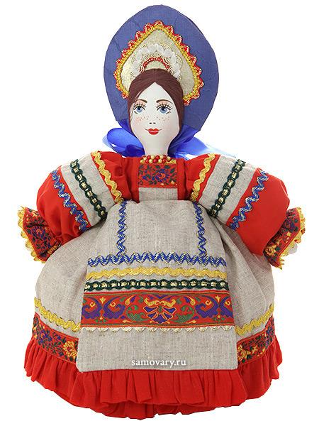 Кукла баба на чайник Маня в серомКукла тряпичная декоративная на заварочный чайник.&#13;<br>Высота - 36 см.&#13;<br>Материал - лен.<br>