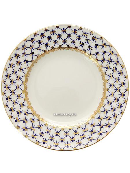 Тарелка десертная 150 мм, форма Волна, рисунок Кобальтовая сетка, Императорский фарфоровый заводФарфоровая тарелка.&#13;<br>Диаметр - 150 мм.<br>