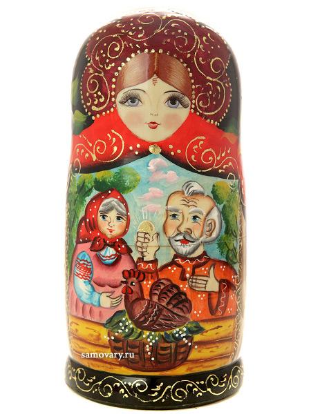 Набор матрешек Курочка Ряба, серия Сказки, арт. 733Набор из 7 штук.<br>Высота - 20 см.<br>
