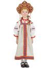 Русский народный костюм для девочки льняной комплект бежевый Забава: сарафан и блузка, 1-6 летДетский костюм для девочки, возраст 1,2,3,4,5,6 лет.&#13;<br>Ткань - лен. Цвет - серый.<br>