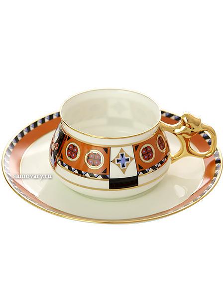 Чашка с блюдцем чайная форма Билибина, рисунок Василиса, Императорский фарфоровый заводФарфоровая чайная пара.&#13;<br>Объем - 180 мл.<br>