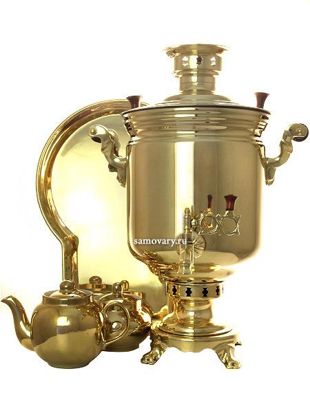 Набор самовар комбинированный 7 литров цилиндр желтый, арт. 310538гНабор из самовара,подноса,заварочного чайника и сахарницы.<br>Труба для отвода дыма в комплекте.<br>