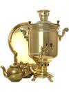 Набор самовар комбинированный 7 литров цилиндр желтый, арт. 310538гНабор из самовара,подноса,заварочного чайника и сахарницы.&#13;<br>Труба для отвода дыма в комплекте.<br>