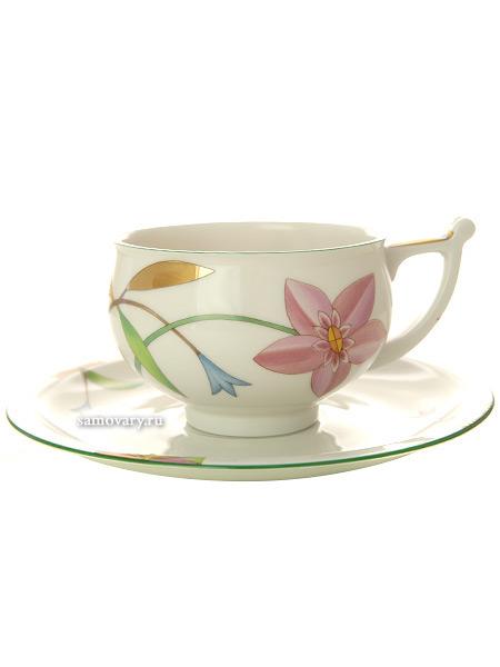 Чашка с блюдцем чайная форма Кострома рисунок Лауренсия, Императорский фарфоровый заводФарфоровая чайная пара.&#13;<br>Объем - 300 мл.<br>
