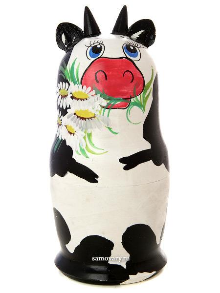 Набор матрешек Коровка, серия Животные, арт. 588Набор из 5 штук.<br>Высота - 16,5 см.<br>