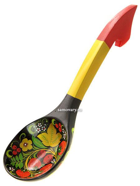Деревянный ополовник арт. 17040000000Деревянный ополовник с хохломской росписью.<br>