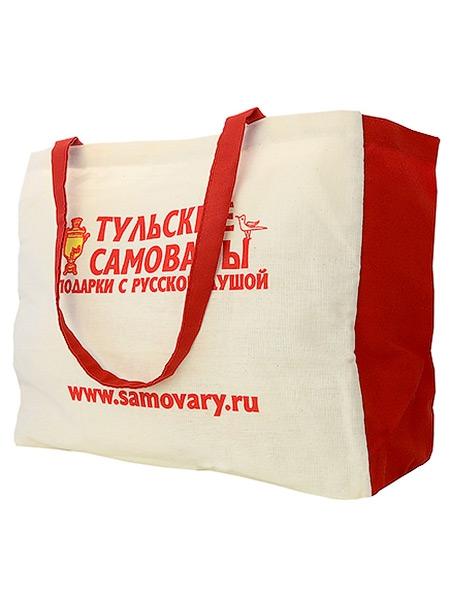 Фирменная сумка Тульские самовары для дачиМодная сумка из льна для дачников &#13;<br>Размер 65*36 см. &#13;<br>Длина ручек 32 см.<br>