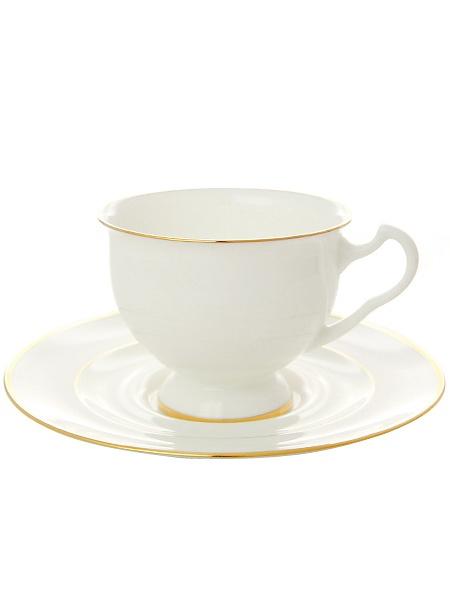 Чашка с блюдцем чайная форма Айседора, рисунок Золотая лента, Императорский фарфоровый заводФарфоровая чайная пара.&#13;<br>Объем - 240 мл.<br>