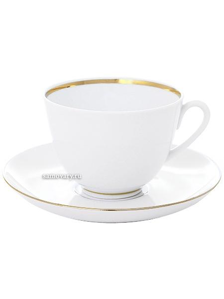Чашка с блюдцем чайная форма Весенняя, рисунок Белоснежка, Императорский фарфоровый заводФарфоровая чайная пара.&#13;<br>Объем - 250 мл.<br>