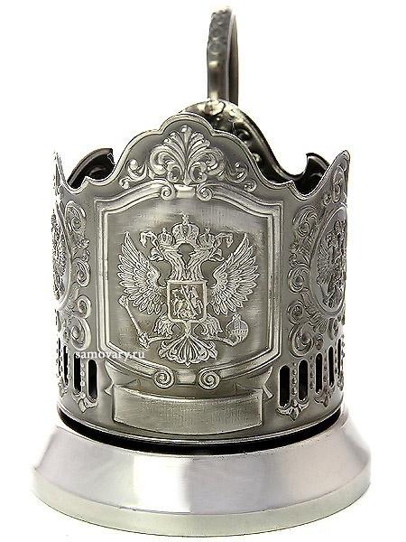Никелированный подстаканник Герб КольчугиноЛатунный подстаканник с никелированным покрытием.<br>