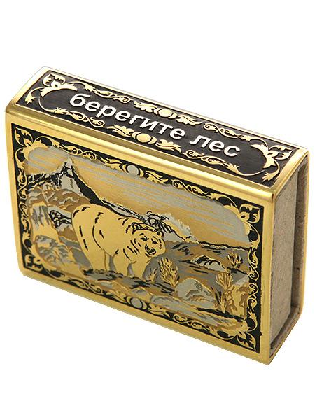 Футляр для спичек с гравюрой Деревенька ЗлатоустФутляр для спичек позолоченный с гравюрой.&#13;<br>Ручная работа.<br>