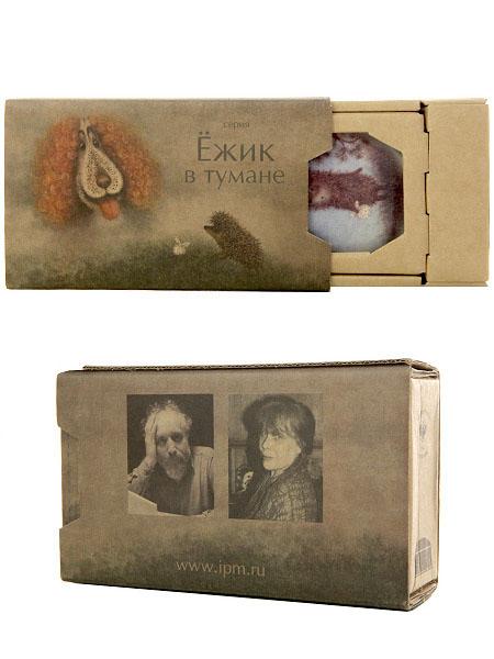 Подарочный набор: туалетная коробочка из фарфора Ежик, форма Граненая, Императорский фарфоровый заводТуалетная коробочка фарфоровая.<br>