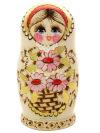 Набор матрешек Цветы ромашки выжигание, арт.522Набор из 5 штук.&#13;<br>Высота - 16 см.<br>