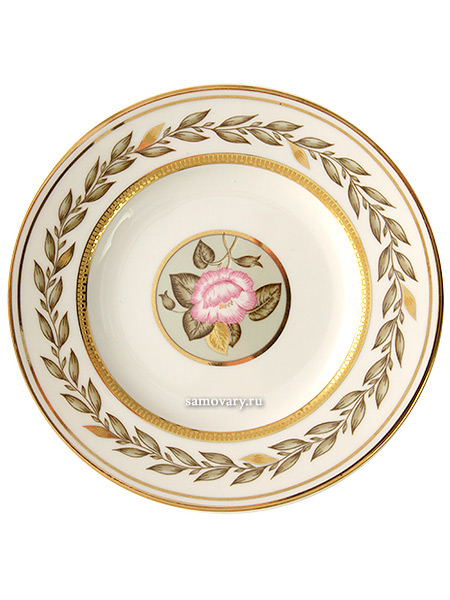 Тарелка пирожковая 180 мм, форма Гербовая, рисунок Нефритовый фон, Императорский фарфоровый заводФарфоровая тарелка.&#13;<br>Диаметр - 220 мм.<br>
