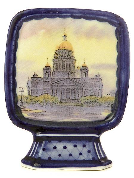 Настольный знак Санкт-Петербург сувенирныйСувенир с ручной росписью.<br>Размер 9*9 см.<br>