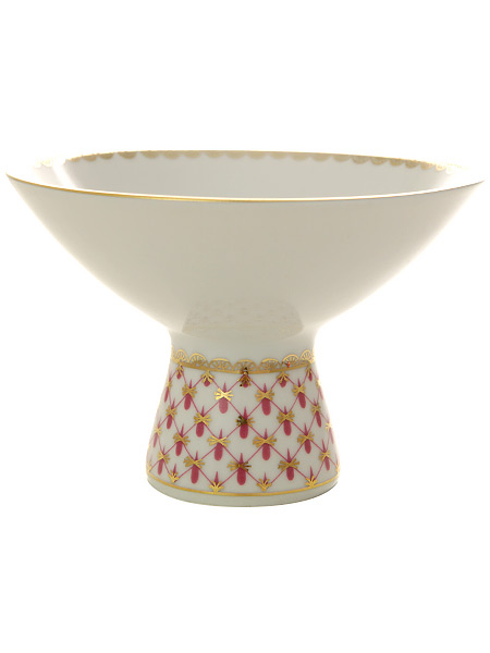 Ваза для мороженого форма Молодежная, рисунок Сетка-блюз, Императорский фарфоровый заводФарфоровая ваза для мороженого.&#13;<br>Диаметр - 123 мм.<br>