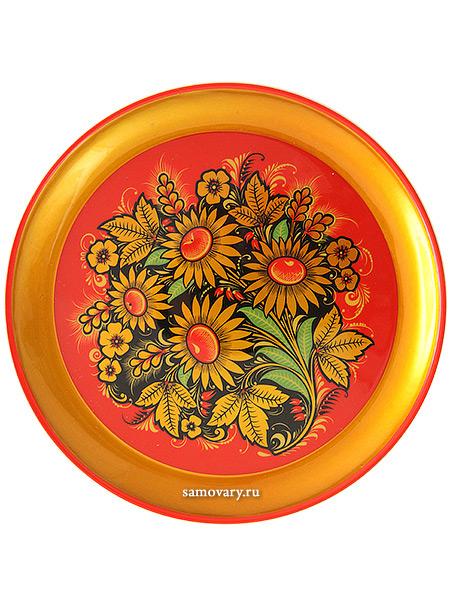 Тарелка-панно хохлома Ромашки 210Х21Деревянная тарелка-панно с хохломской росписью.&#13;<br>Размер - 210х21 мм.<br>